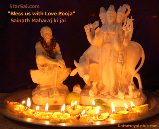 Bless us with Love pooja for Lord Dattatreya and Shirdi Sai baba