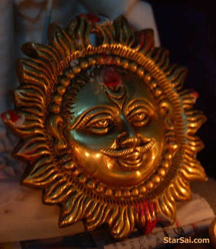 Lord Surya shining gloriously blessing you with Good health, Wealth, Peace and prosperity
